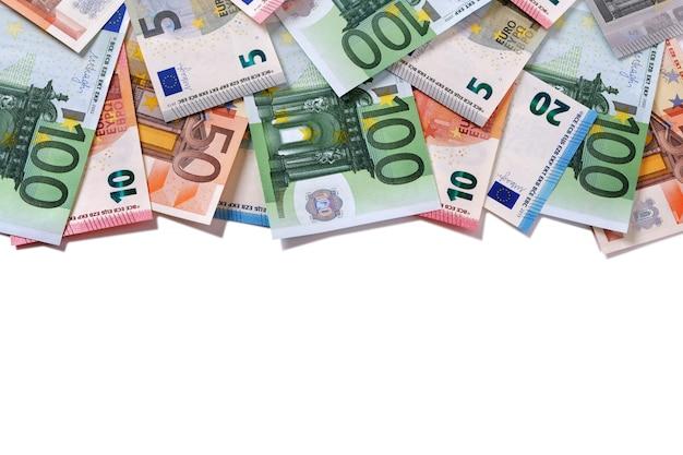 Banconote in euro con bordo superiore Foto Gratuite