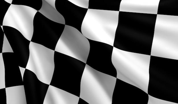 Bandiera a scacchi Foto Premium