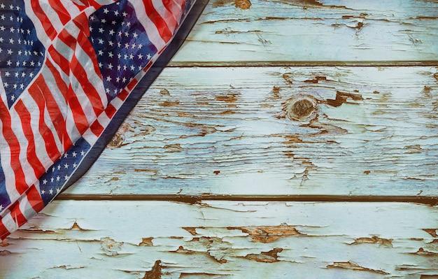 Bandiera americana patriottica americana di festa del lavoro degli stati uniti per il giorno dei caduti Foto Premium