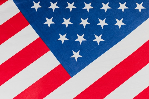 Bandiera degli stati uniti inclinata Foto Gratuite