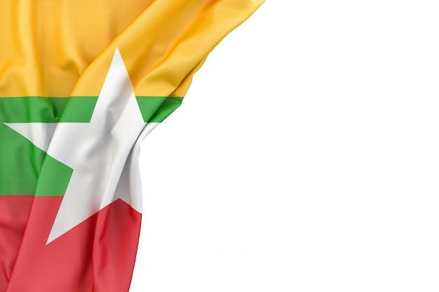 Bandiera del myanmar Foto Premium
