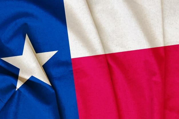 Bandiera del texas vintage Foto Premium