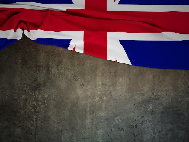 Bandiera Dellinghilterra Della Struttura Del Tessuto Con Fondo