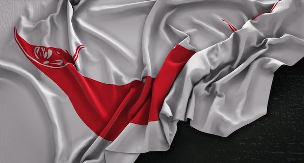 Bandiera dell'isola di Pasqua Ruvida su sfondo scuro 3D Rendering Foto Gratuite
