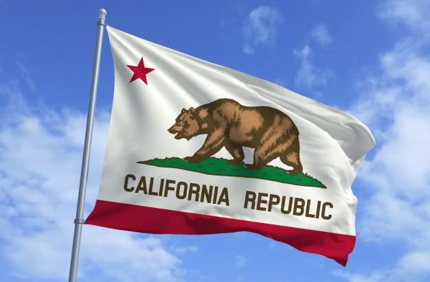 Bandiera della california Foto Premium