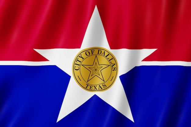 Bandiera della città di dallas, texas (us) Foto Premium