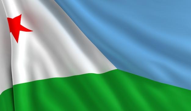 Bandiera di gibuti Foto Premium
