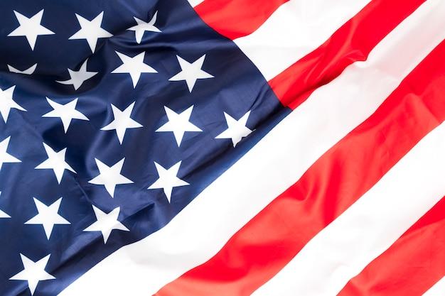 Bandiera di vista superiore degli stati uniti d'america Foto Gratuite