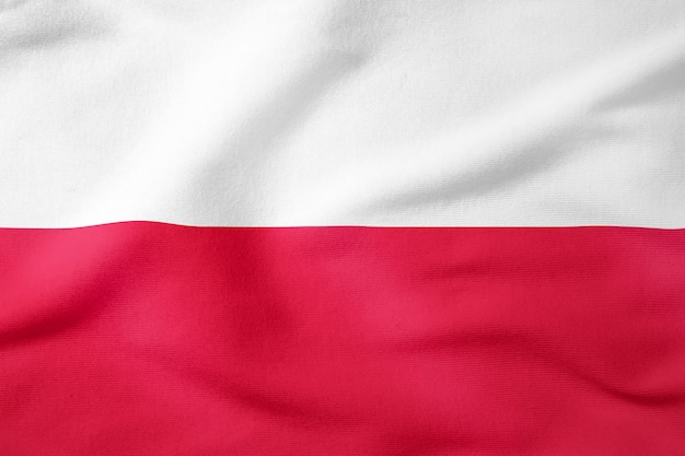 Bandiera nazionale della polonia - simbolo patriottico di forma rettangolare Foto Premium