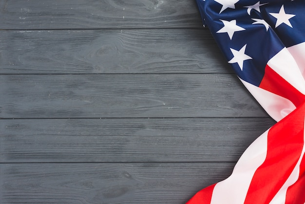 Bandiera usa su sfondo grigio Foto Gratuite