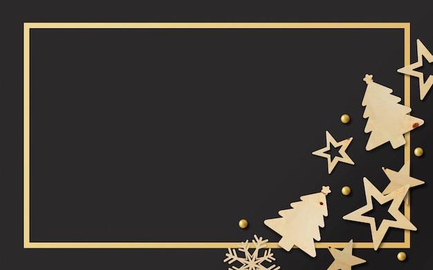 Banner di buon natale e felice anno nuovo Foto Premium