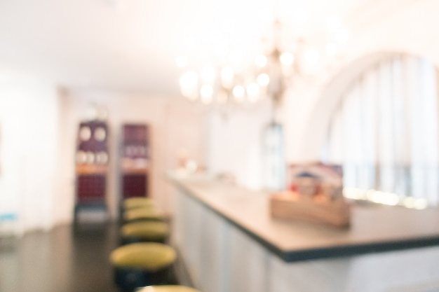 Bar con sgabelli offuscata Foto Gratuite