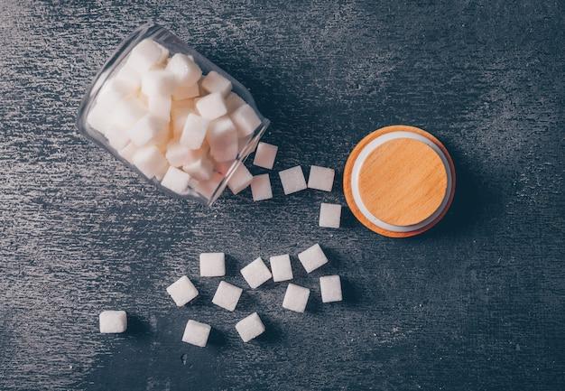 Barattolo di zucchero. vista dall'alto. Foto Gratuite