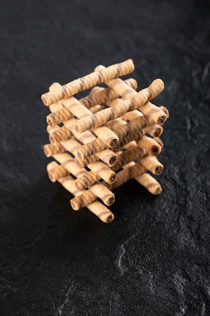 Bastoncini di cialde al cioccolato Foto Gratuite