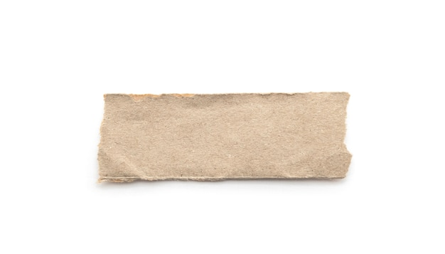 Bastone riciclato del mestiere di carta su una priorità bassa bianca. Foto Premium