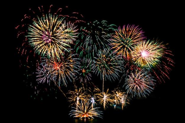 Bei fuochi d'artificio sul cielo nero Foto Gratuite