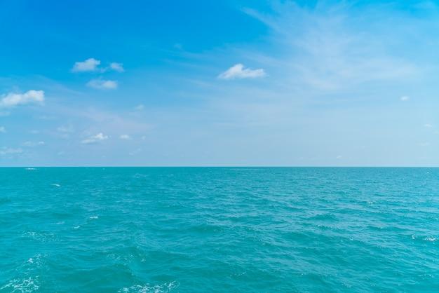 Bella blu mare e cielo Foto Gratuite