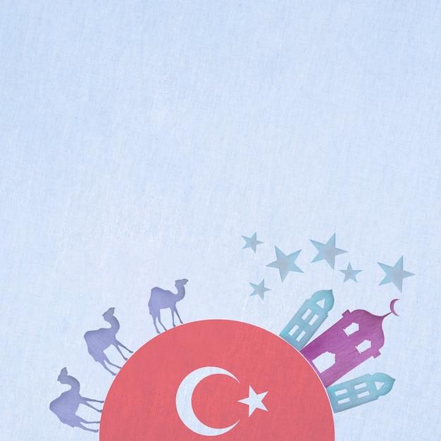 Bella composizione acquerello turchia Foto Gratuite