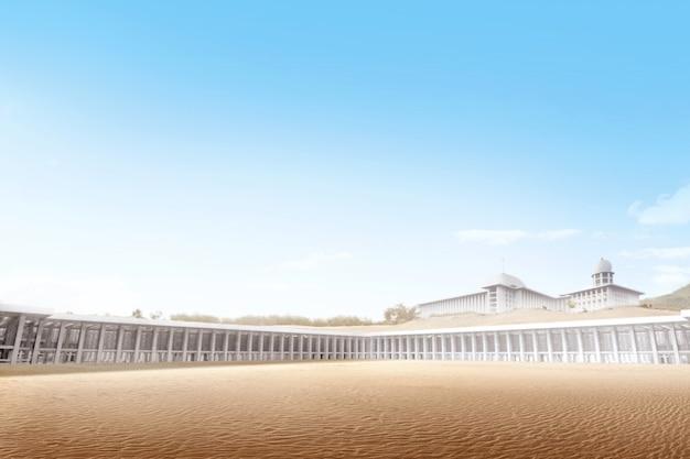 Bella moschea nel deserto Foto Premium
