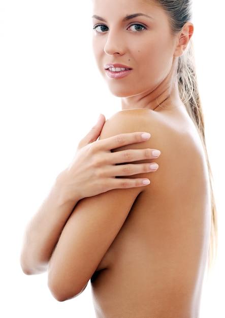 Bella ragazza in topless Foto Gratuite
