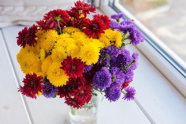 Bellissimo bouquet luminoso colorato Foto Premium