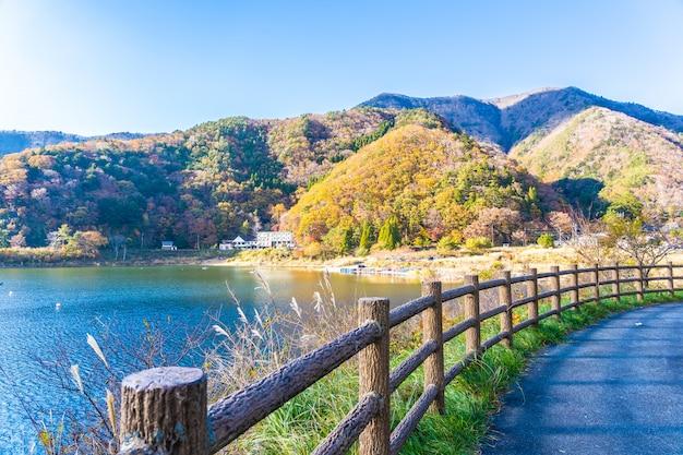 Bellissimo paesaggio intorno lago kawaguchiko Foto Gratuite
