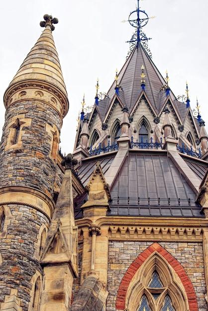 Biblioteca del parlamento a ottawa in canada Foto Premium