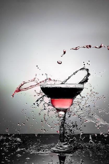 Bicchiere con champagne Foto Premium