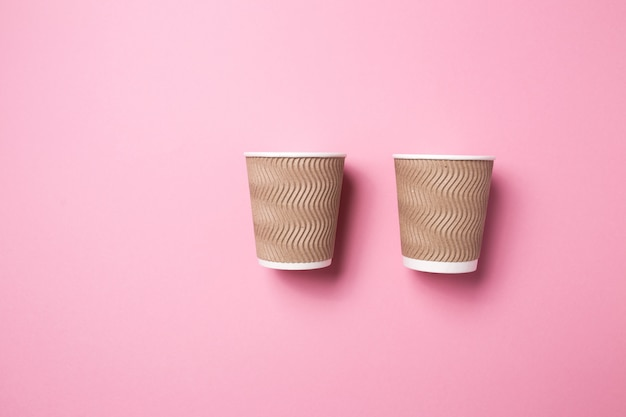 Bicchiere di carta per caffè o tè caldo Foto Premium