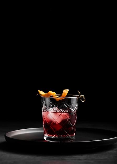 Bicchiere di spazio fresco copia cocktail Foto Gratuite