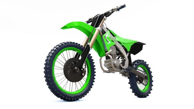 Bicicletta sportiva verde e nera per sci di fondo Foto Premium