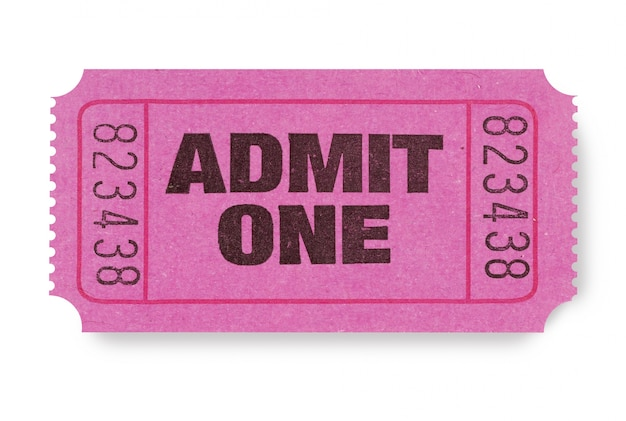 Biglietto d'ingresso Foto Premium