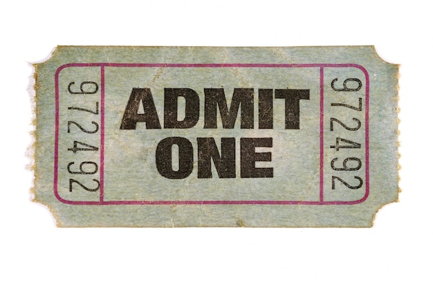 Biglietto vecchio film Foto Gratuite