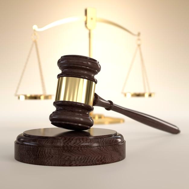 Bilancia della giustizia e martelletto | Foto Premium