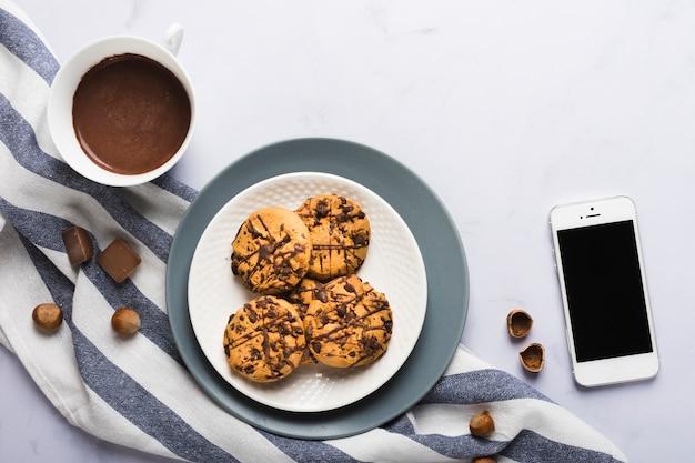 Biscotti al cioccolato Foto Gratuite