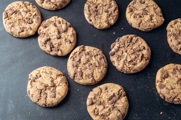 Biscotti al cioccolato Foto Premium
