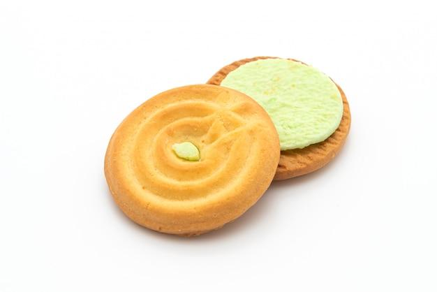 Biscotti con crema pandana Foto Premium