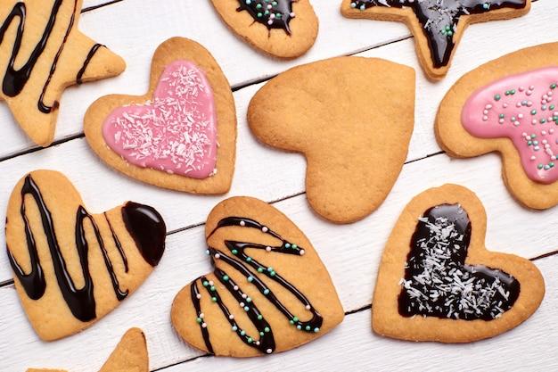 Biscotti di pasta frolla fatti in casa Foto Premium