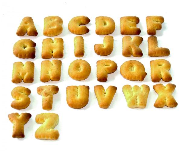 Biscotti lettere abc Foto Premium