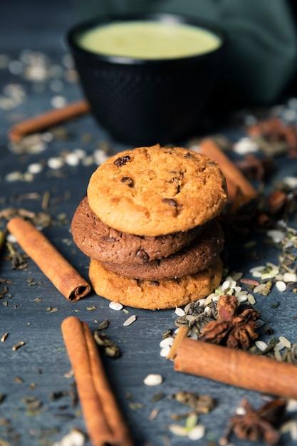 Biscotti tradizionali del tè di vista del primo piano Foto Gratuite