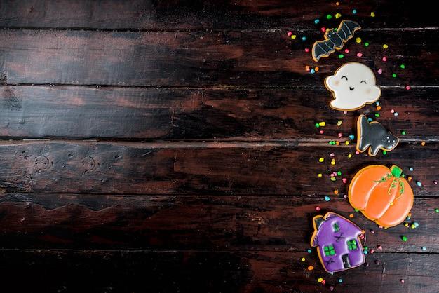 Biscotti tradizionali di halloween Foto Premium