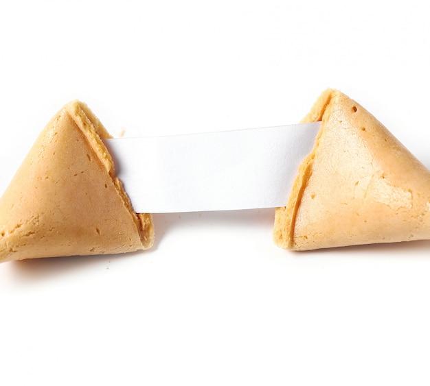 Biscotto della fortuna con carta Foto Gratuite