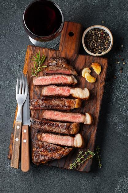 Bistecca a fette Foto Premium