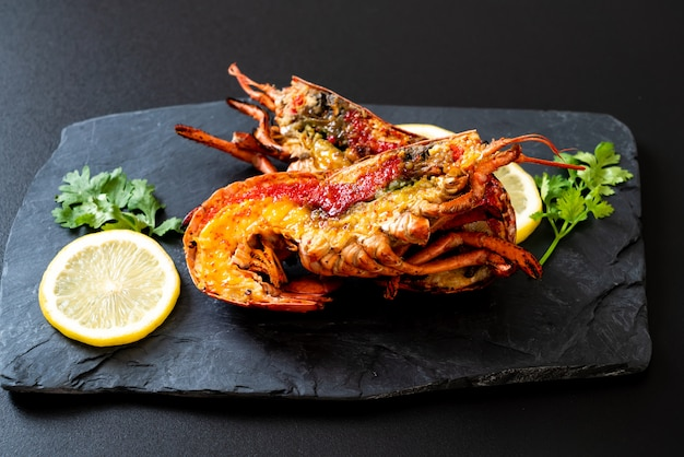 Bistecca di aragosta alla griglia Foto Premium