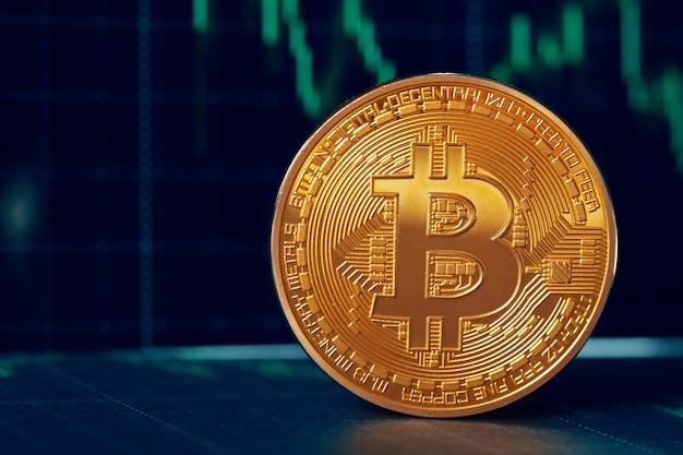 Bitcoin e grafico Foto Premium