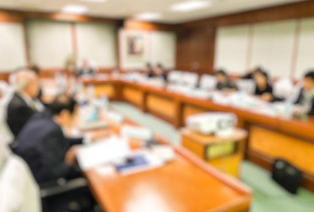 Blur ceo con il consiglio di amministrazione conferenza nella sala riunioni Foto Premium