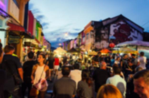 Blur festival mercato notturno Foto Premium