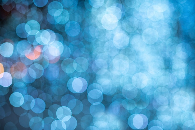Bokeh blu sfocato sfondo di luci Foto Premium