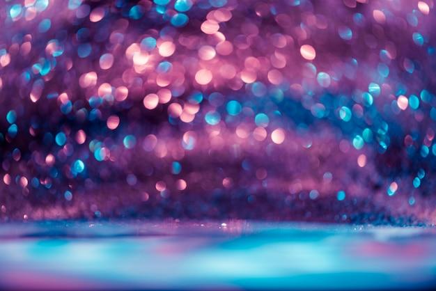 Bokeh glitter colorfull sfocato sullo sfondo astratto per anniversario, capodanno o natale Foto Premium