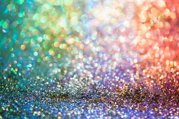 Bokeh glitter colorfull sfondo astratto sfocato per anniversario Foto Premium